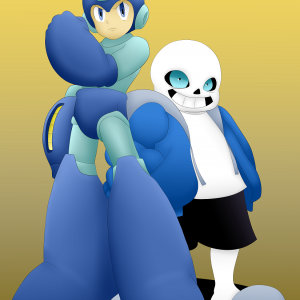 Mega Man & Sans Commission